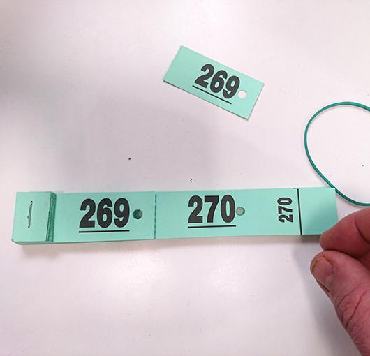 Tickets para control de perchas